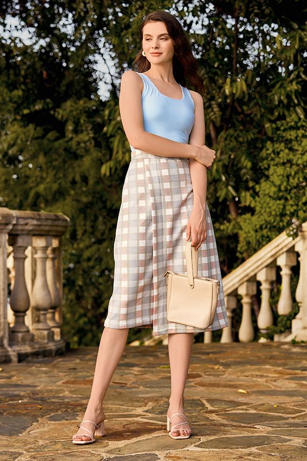 Kario Plaids Midi Skirt