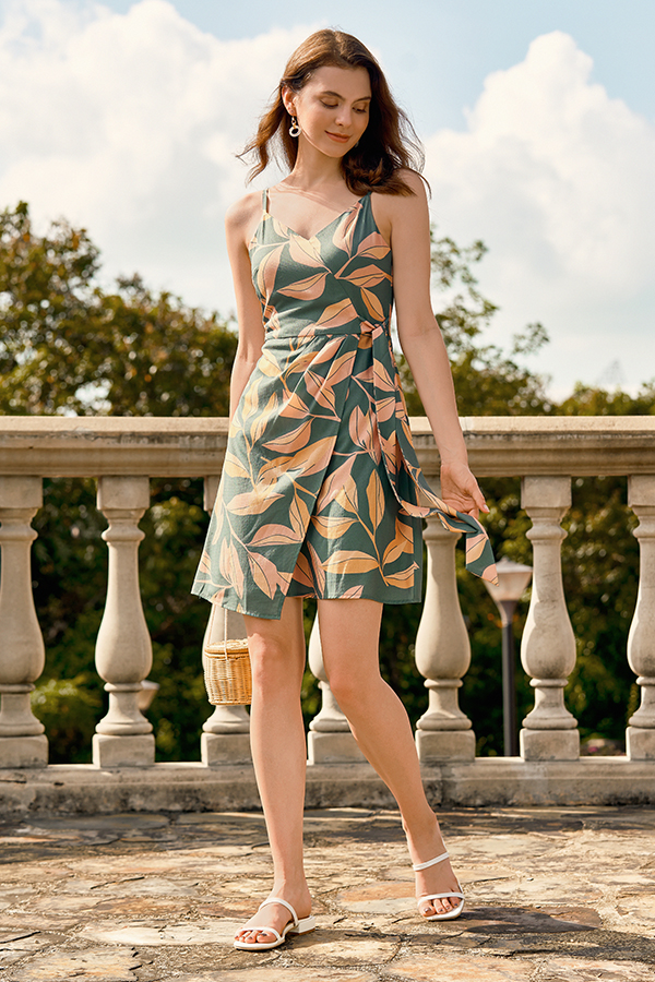Cadelia Dress in Foliage Green