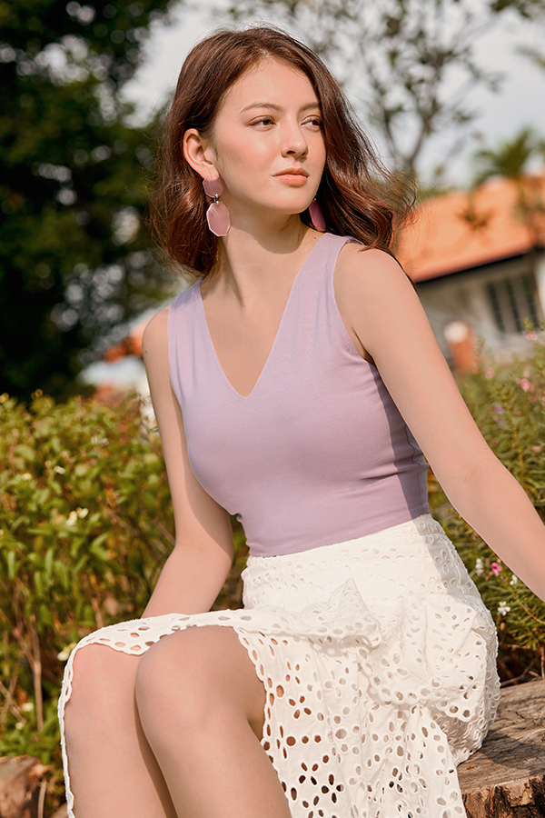 *Restock* Janie Two Way Top in Lavender