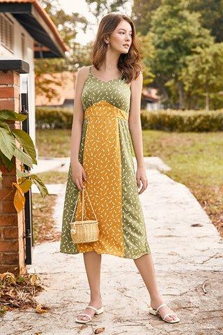 Bianca Midi Dress in Sage