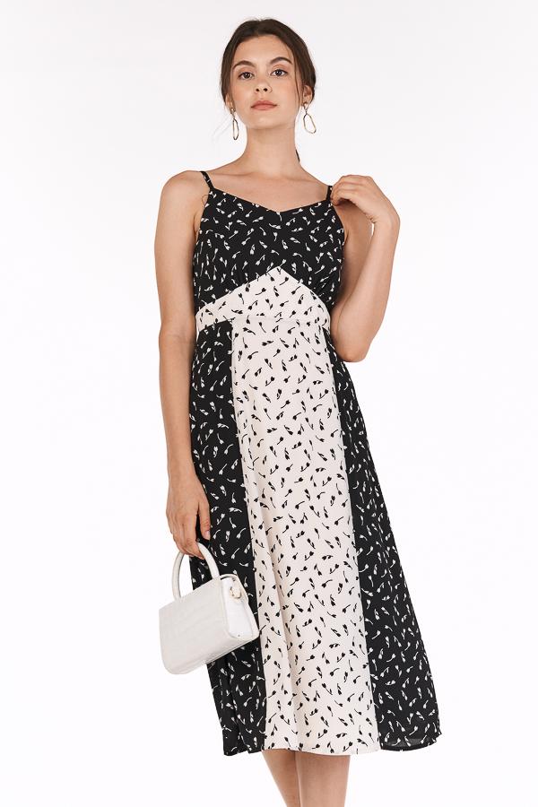 Bianca Midi Dress in Black