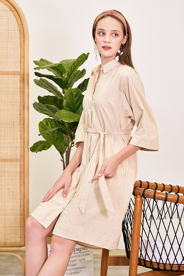 Gwenda Linen Shirt Dress