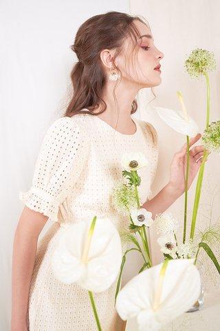 Klaire Eyelet Dress in Cream
