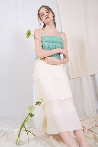 Willia Tiered Midi Skirt in Cream