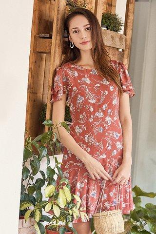 Laricia Dress in Rust