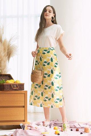 Lemons Midi Skirt