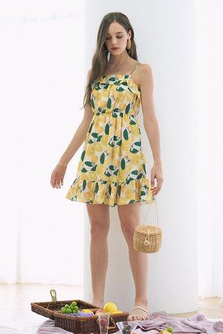 Lemons Ruffled Dress