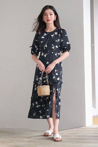 Perilla Midi Dress in Black