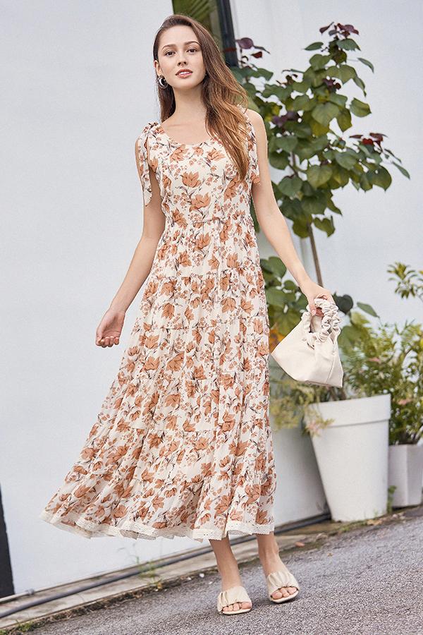 Ferne Maxi Dress in Cream