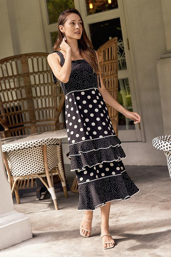 Hira Dotted Maxi Dress