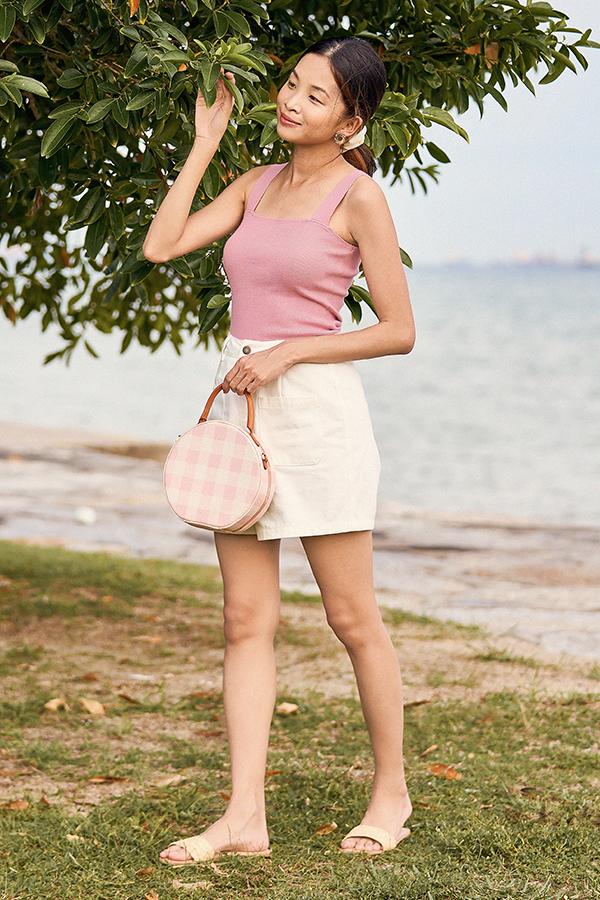 *Restock* Brea Knitted Top in Dusty Pink