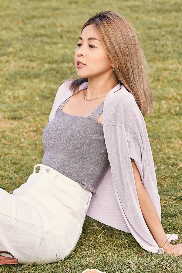 *Restock* Brea Knitted Top in Grey