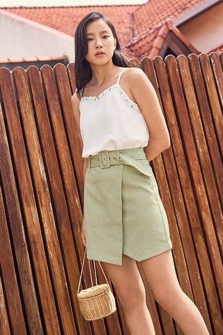 Cloe Corduroy Skirt in Sage