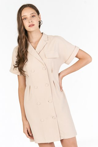 Zann Sleeved Dress in Khaki