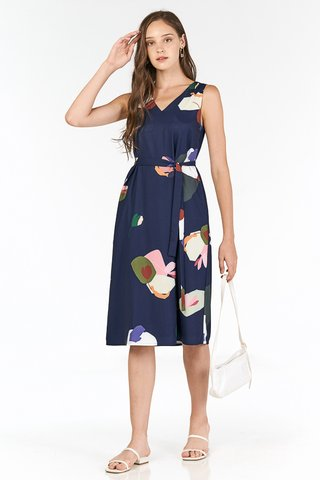 Ordell Two Way Midi Dress in Navy