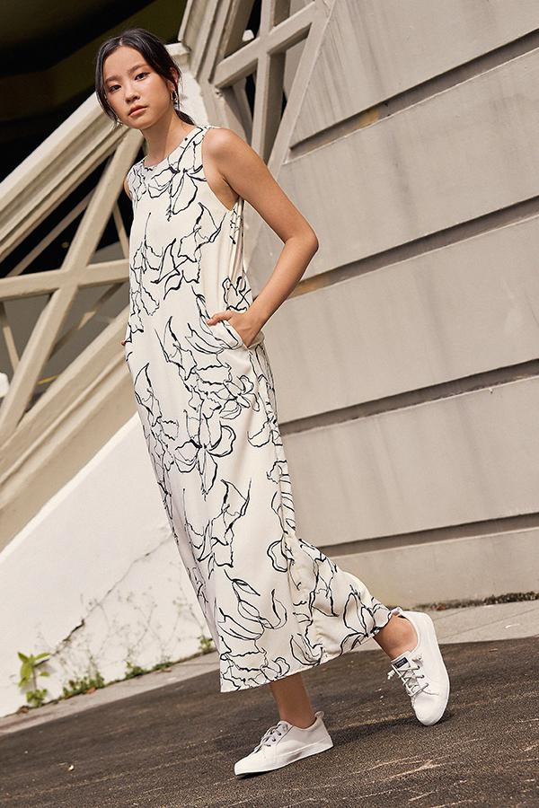 Sherinda Two Way Maxi Dress in Cream