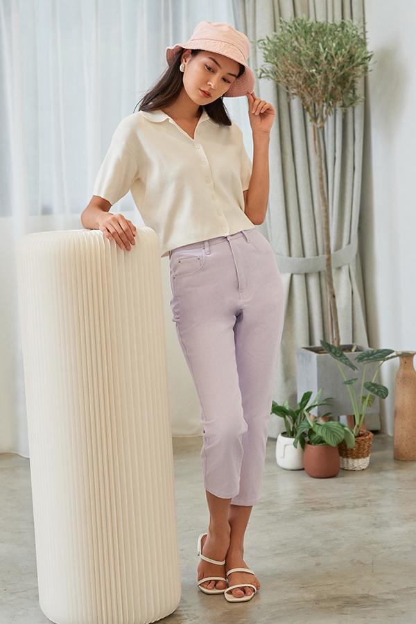 Dyan Denim Jeans in Lilac