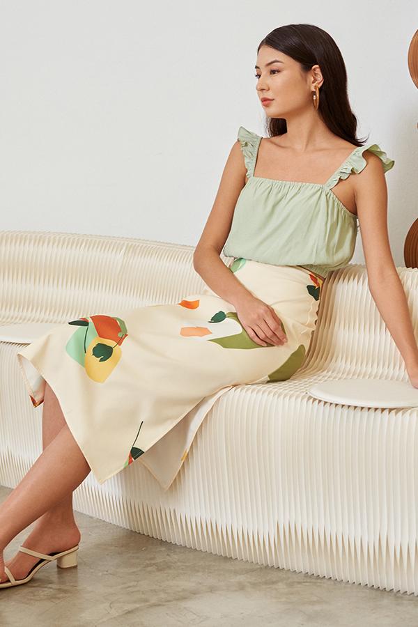 *Restock* Ordell Midi Skirt in Cream