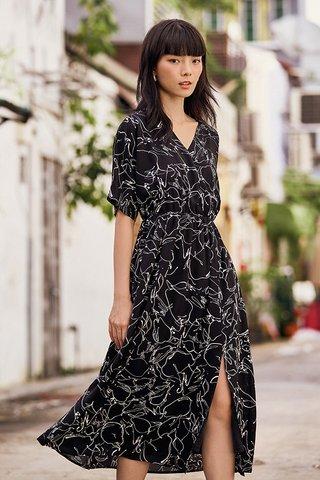 Rita Midi Dress in Black
