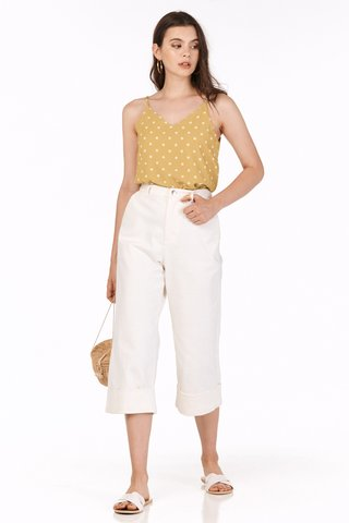 Cedar Dotted Two Way Top in Mustard