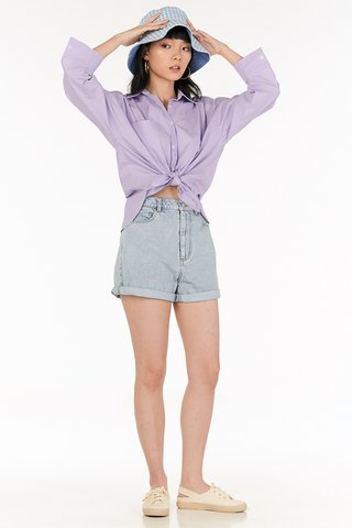 *Restock* Cooper Oversized Shirt in Lilac