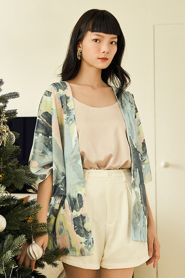 *Backorder* Bayson Satin Two Way Top in Champagne