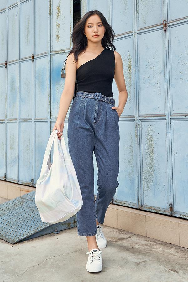 *Restock* Hathaway Belted Denim Jeans