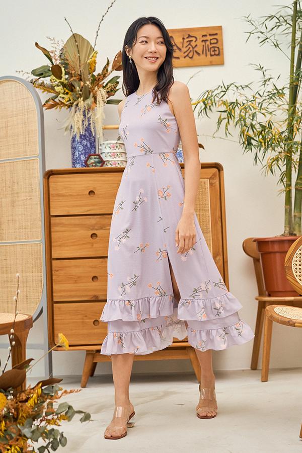 Ranosa Maxi Dress in Ash Lilac