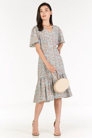 Hileda Midi Dress in Pastel Blue
