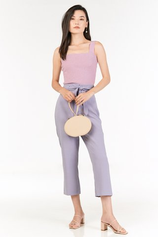 Kloss Belted Pants in Lilac