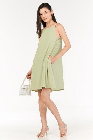 Calisa Swing Dress in Apple Green