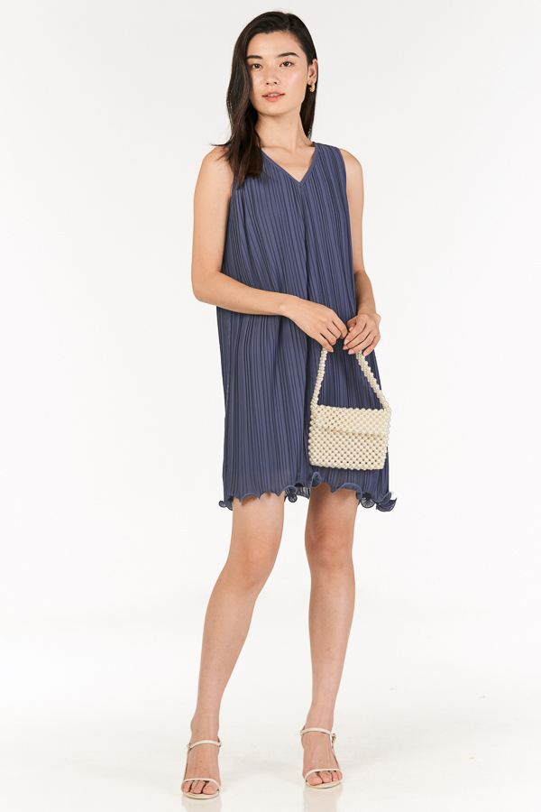 *Restock* Mandell Two Way Pleated Dress in Periwinkle