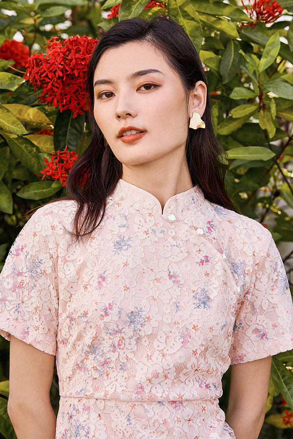 Aydella Qipao in Peach