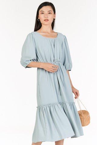 Drenna Midi Dress in Pastel Blue