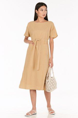 Lanno Midi Dress in Khaki