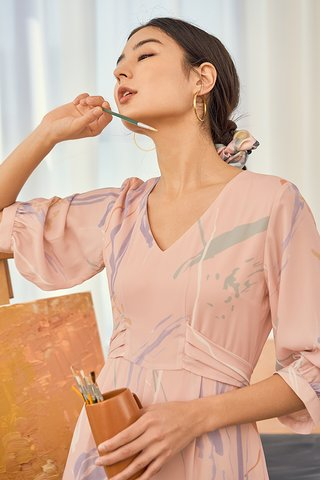 Moments Sleeved Romper in Pink