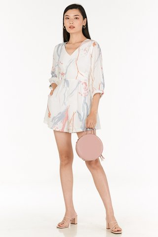 Moments Sleeved Romper in White