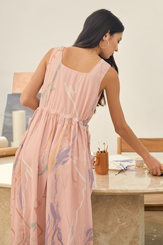 Moments Two Way Midi Dress in Pink