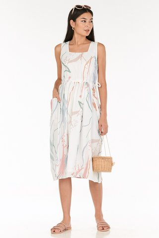 Moments Two Way Midi Dress in White