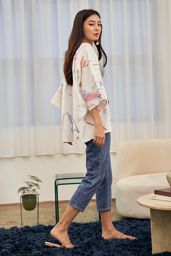 *Restock* Moments Kimono in White