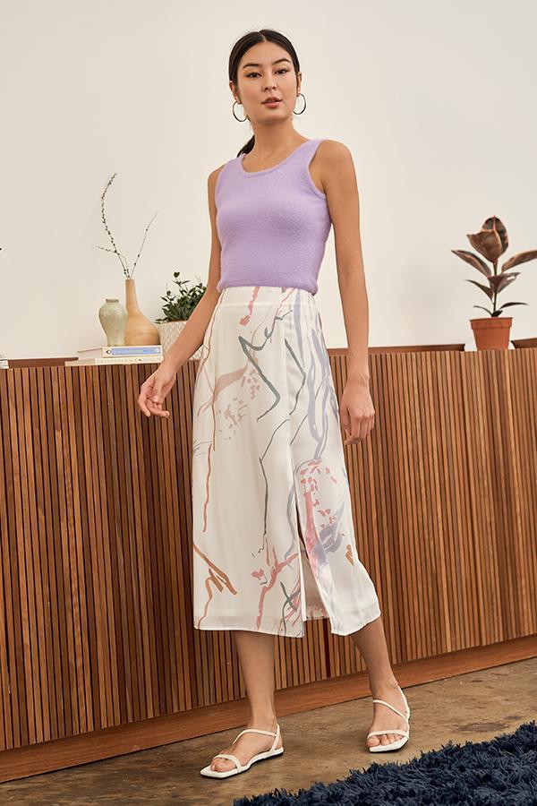 Moments Midi Skirt in White