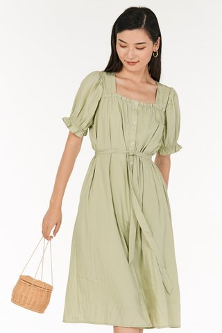 Grenda Dress in Sage