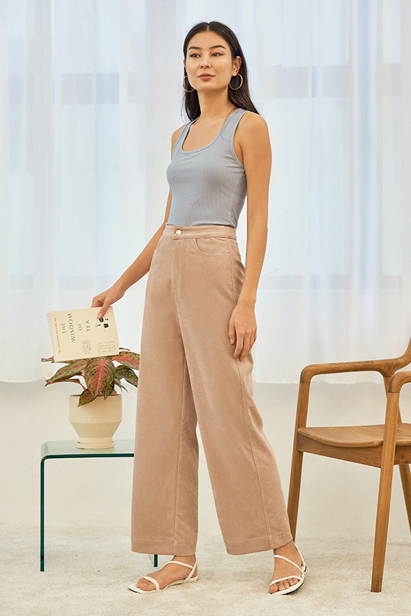 Astra Corduroy Pants in Sand