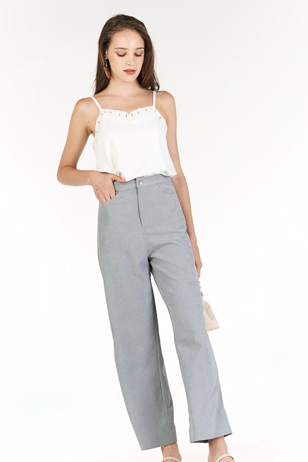 Astra Corduroy Pants in Slate Blue