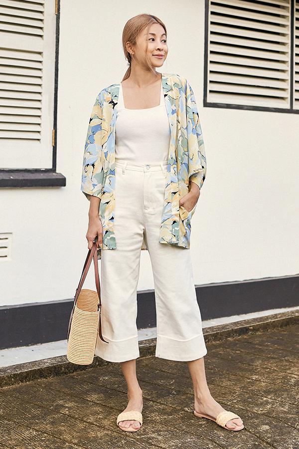 *Backorder 3* Glendale Denim Culottes in White