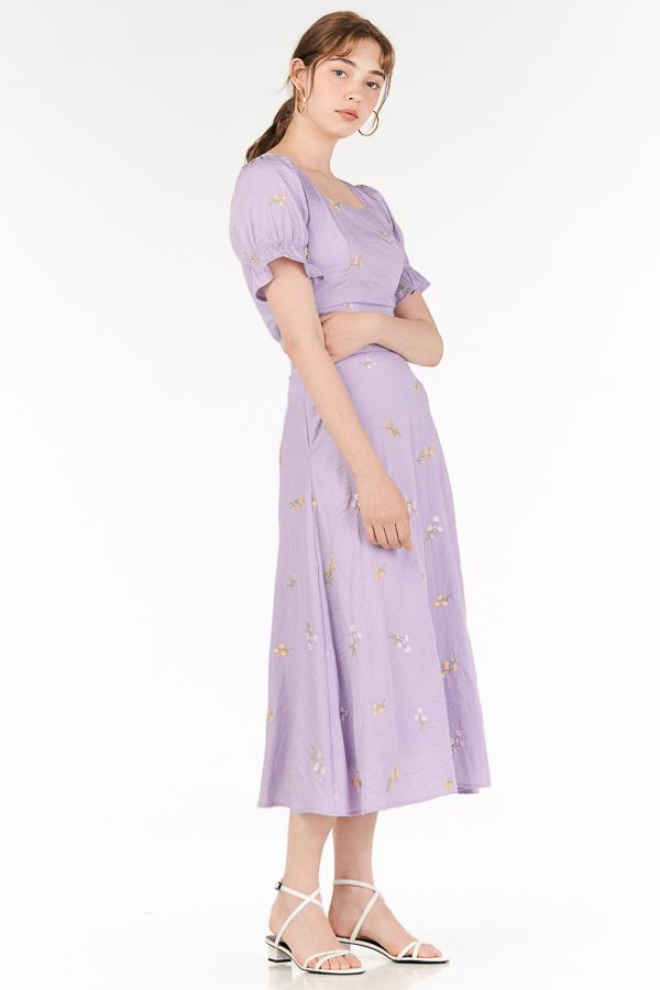 Solla Midi Skirt in Lilac