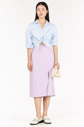 Flenda Dotted Midi Skirt in Lilac