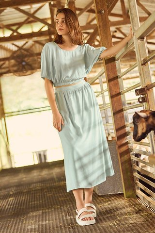 Flonn Midi Skirt in Mint