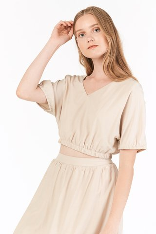 Hasley Two Way Top in Cream