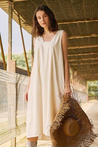 Oaklyn Two Way Midi Dress in Ivory